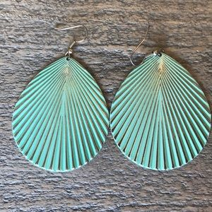 Teal Statement Earrings